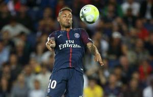 サッカーのフランス1部リーグでトゥールーズ戦に出場したパリ・サンジェルマンのネイマール=20日、パリ(ゲッティ=共同)