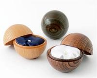 漆器の技 遺品ケース ヒロセ(鯖江)商品化 ケヤキ使用 球形美しく