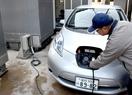 波力発電の電気で電気自動車走る