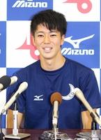 「タイムより勝負にこだわる」と意気込む男子100メートルの多田=7日、福井県営陸上競技場