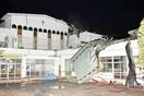 台風21号猛威、幼稚園の屋根飛ぶ