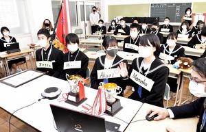 名田庄中生、長崎の生徒と…