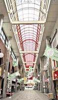 将来的な維持管理が課題となっているガレリア元町商店街のアーケード=7月、福井市中央1丁目