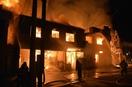 芦原温泉街火事、火一気に拡大か