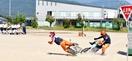 自転車事故実演、中学生怖さ実感