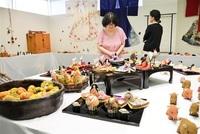 古布風合い生かし ちりめん細工600点 鯖江、愛好団体展示
