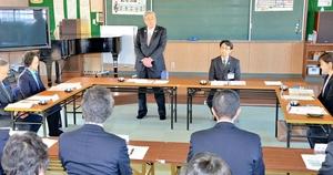 インクルーシブ教育の課題について協議した福井県福井市総合教育会議=1月30日、同市順化小