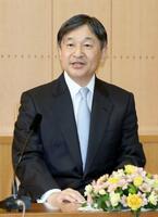60歳の誕生日を前に記者会見される天皇陛下=赤坂御所(代表撮影)