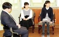 作文最高賞2児童 米訪問の成果語る グリフィス記念館