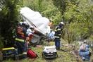家族5人の車転落、父と次男死亡