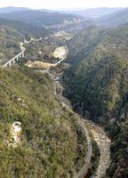 大津市の大戸川ダム建設予定地=2016年2月