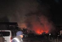越前市で未明に住宅地火事10棟被害